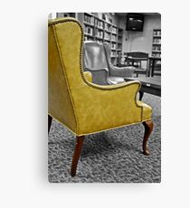 Yellow Armchair Canvas Print