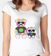 Rainbow Bear with shirts Women's Fitted Scoop T-Shirt