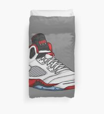 Shoes Fire Reds (Kicks) Duvet Cover