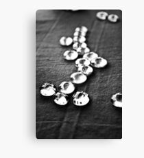 Glass beads in black & white Canvas Print