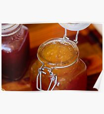 Apricot Jam in a glass jar Poster