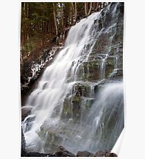 Bear Creek Falls in Winter Poster