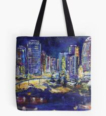 Surfers Paradice by night Tote Bag
