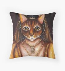 Tudors Anne Boleyn Cat King Henry VIII Wives Throw Pillow