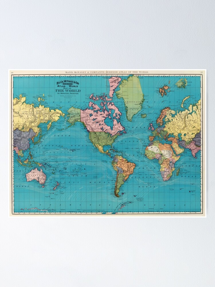 Alternate view of Vintage Map of The World (1897) Poster