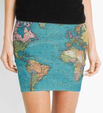 Vintage Map of The World (1897) Mini Skirt