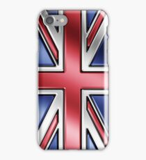 British Union Jack Flag 2 - UK - Metallic iPhone Case/Skin