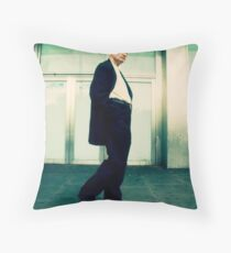 just some random guy, shot from the hip Throw Pillow