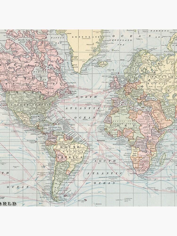 Mapa del mundo de la vendimia (1901) de BravuraMedia