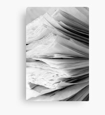 Are the pages blank ? Canvas Print