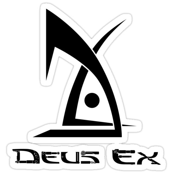 Quot Deus Ex Logo Black Quot Stickers By Darth Biomech Redbubble