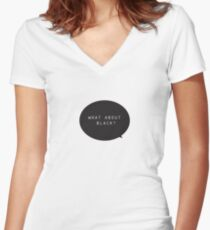 What about Black Single Women's Fitted V-Neck T-Shirt