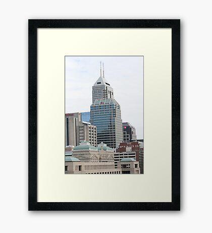 Indy Buildings Framed Print