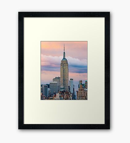 Empire State Cotton Candy Framed Print