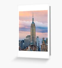 Empire State Cotton Candy Greeting Card
