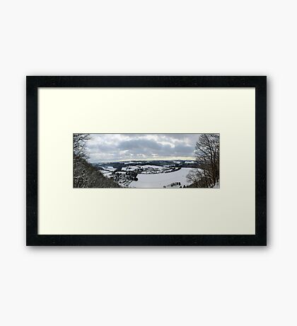 A view down the Sieg Valley Framed Print