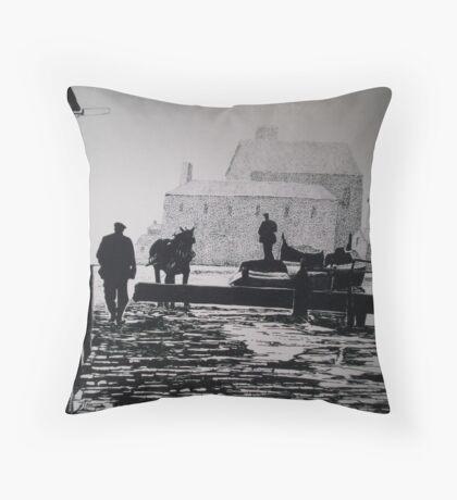 Top Lock Throw Pillow