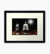Reflections of a Capital City Framed Print