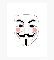 Anonymous mask Photographic Print