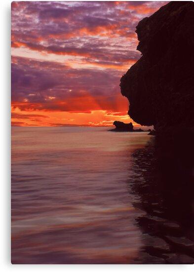 Dusk over Monkey Island by David Alexander Elder