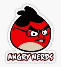 Angry Nerds Sticker