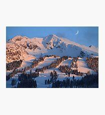 Blackcomb mountain at sunset Photographic Print