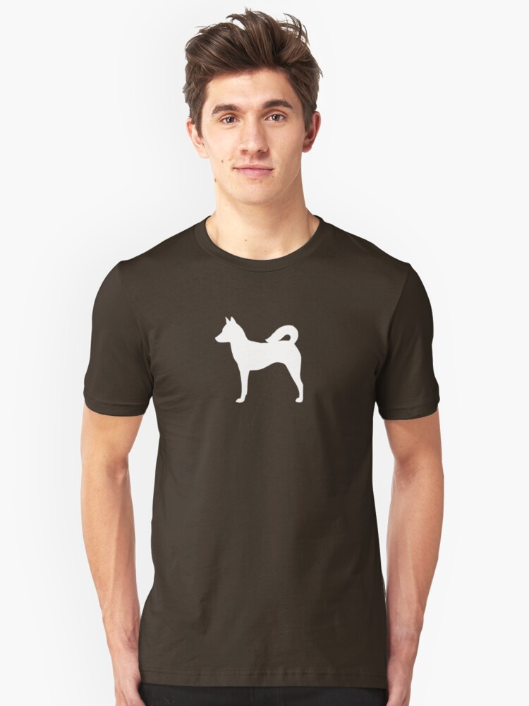 Canaan Dog Silhouette(s) Unisex T-Shirt Front
