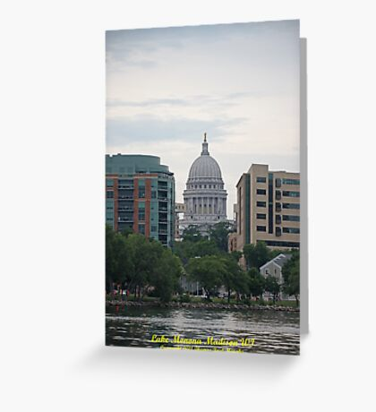 Madison Wisconsin the Capitol Building Greeting Card