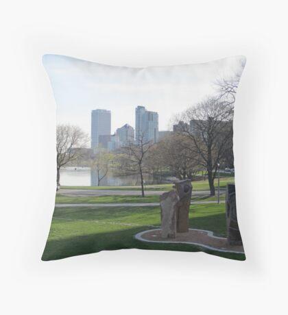 Milwaukee Skyline Cityscape Throw Pillow