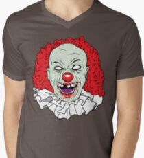 Zombie clown Mens V-Neck T-Shirt