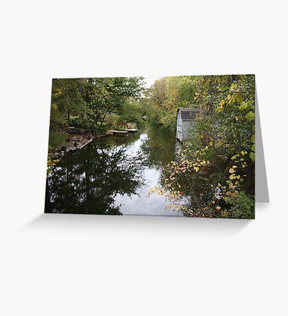 Oconomowoc Riverscape Greeting Card