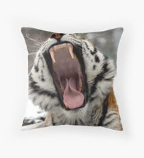 Dentist in the ZOO Throw Pillow