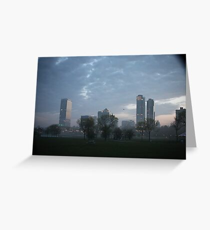Milwaukee Cityscape with Clouds Greeting Card
