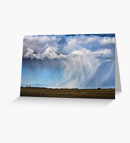 Snow shower approaching Greeting Card