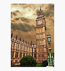 the house of commons clock tower Photographic Print