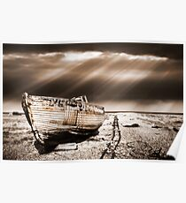 fishing boat graveyard toned Poster