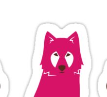 Folk Wolf Sticker