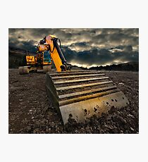 threatening and moody excavator Photographic Print