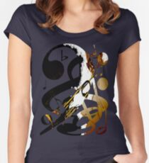 Jazz Note Blue Women's Fitted Scoop T-Shirt