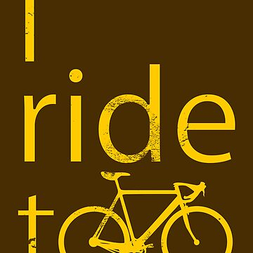 I ride too, yellow by POOSH