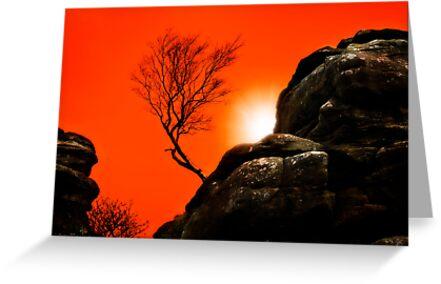 sunset at brimham rocks by meirionmatthias