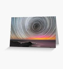 Aurora Star Trails Greeting Card