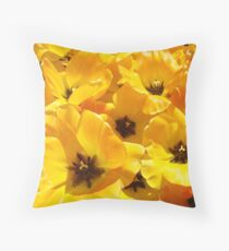 Tulips Flowers art prints Yellow Tulip Floral Throw Pillow