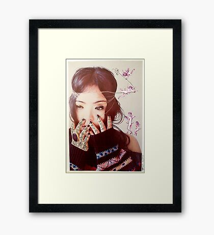 Queenie and the Angels Of Ecstasy  Framed Print