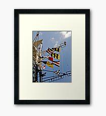 Signals HMS Belfast Framed Print