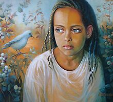 The bird and the child by Elena Oleniuc