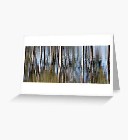 Silvery reflections Greeting Card