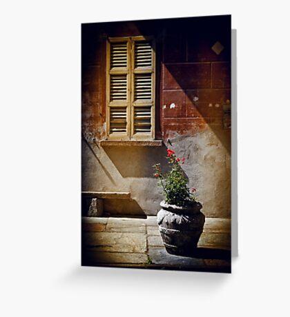 Vase, window and shadows Greeting Card