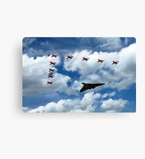Vulcan Red Arrows Canvas Print
