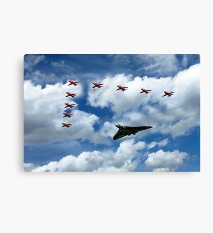 Vulcan Red Arrows Canvas Print